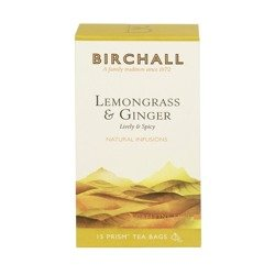 Birchall Lemongrass & Ginger - natural infusion, 15 prism tea bags