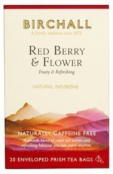 Birchall Red Berry & Flower - herbal, 20 enveloped prism tea bags