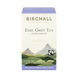 Birchall Virunga Earl Grey Tea -  black tea, 25 enveloped tea bags