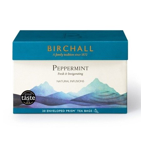 Birchall Peppermint - herbal, 20 enveloped prism tea bags