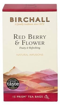 Birchall Red Berry & Flower - natural infusion, 15 prism tea bags