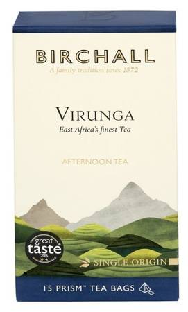Birchall Virunga Afternoon Tea - black tea, 15 prism tea bags