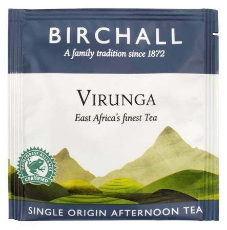 Birchall Virunga Afternoon Tea - black tea, 20 enveloped prism tea bags